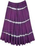 Mulberry Purple Wash Tie Dye Skirt in Rayon