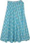 Blue Karmic Cotton Wrap Around Skirt