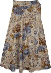 Suave Floral Beige Wrap Around Skirt