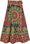 Gypsy Flower Celebration Skirt with Wrap Waist