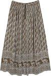 Camouflage Olive Camel Print Long Summer Skirt