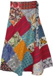Paris Daisy Bohemian Wrap Around Skirt in Patchwork
