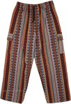 Unisex Boho Cargo Pants Thick Handloom Cotton Pants