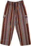 Unisex Boho Cargo Pants Thick Handloom Cotton Pants