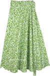 Jade Garden Long Wrap Around Cotton Skirt