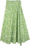 Jade Garden Long Wrap Around Cotton Skirt