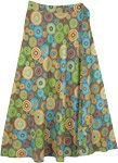 Mandala Parade Cotton Wrap Around Skirt