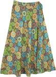 Mandala Parade Cotton Wrap Around Skirt