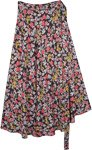 Cheerful Heavy Floral Wrap Around Rayon Skirt
