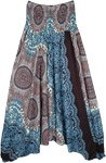 Mandala Hippie Aladdin Harem Pants Smocked Waist