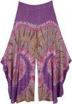 Purple Paradise Rayon Split Leg Boho Pants