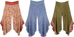 Flared Printed Elephant Trouser - Assorted Pack Of 3