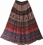 Gypsy Long Skirt w/ Flower Print