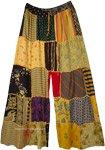 Opulent Orange Rayon Patchwork Dori Trousers