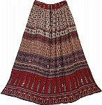 Gypsy Long Skirt - Flower Print