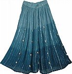 Blue Shaded Summer Long Skirt