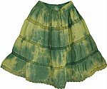 Green Yellow Short Skirt