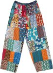 Fun Floral Patchwork Cotton Hippie Lounge Pants