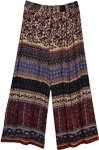 Paisley Printed Wide Leg Street Wear Hippie Pants