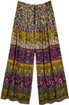 Ibiza Summer Palazzo Pants with Floral Print