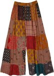 Spice Hippie Patchwork Wide Leg Pants in Mixed Prints
