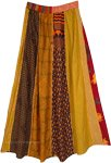 Vintage Glow Vertical Patchwork Long Gypsy Skirt