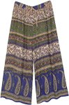 Ethnic indian Paisley Printed Wide Leg Street Pants