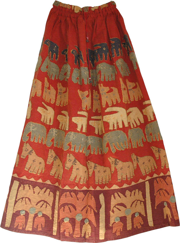 Poppy Bohemian Long Skirt