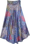 Under The Sea Floral Long Wrap Skirt