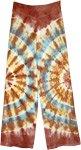 Color Collision Tie Dye Brown Straight Leg Pants