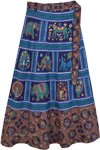 Exotic Animal Farm Cotton Wrap Skirt