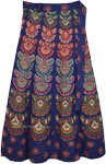 Bohemian Printed Wrap Around Skirt