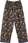 Cotton Floral Printed Pajama Pants with Elastic Waist