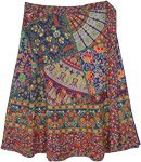 Full Ethnic Floral Gypsy Plus Size Wrap Around Skirt