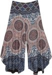 Turkish Design Printed Wide Leg Bohemian Pants
