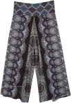 Paisley and Mandala Print Front Slit Rayon Trousers