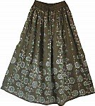 Hemlock Sequin Skirt with Floral Motifs