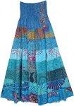 Blue Heaven Heavy Rayon Skirt Dress with Smocked Waist