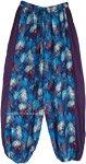 Island Vacay Hippie Harem Pants with Side Stripe