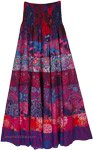 Dreamy Wonderland Printed Skirt Dress with Smocked Waist