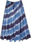Tropical Waves Tie Dyed Long Cotton Skirt