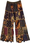 Night Bloom Boho Dori Trousers with Patterned Patchwork