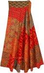 Floral Flow Bright Bohemian Reversible Wrap Skirt