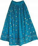 Bahama Blue Sequin Skirt
