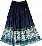 Bohemian Long Skirt w/ Sequins