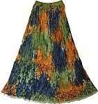 Sultry Summer Crinkle Long Skirt