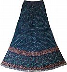 Ethnic Bohemian Polka Long Skirt