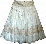 White Golden Bohemian Skirt