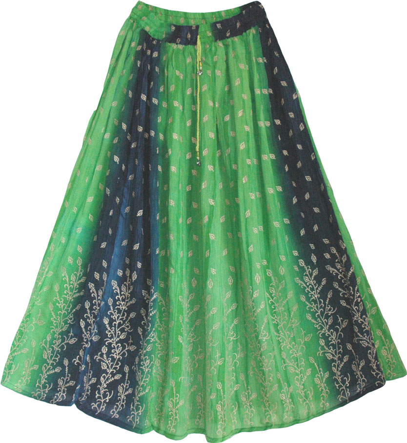 Sea Green Summer Long Skirt