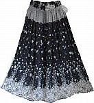 Black White Bohemian Skirt
